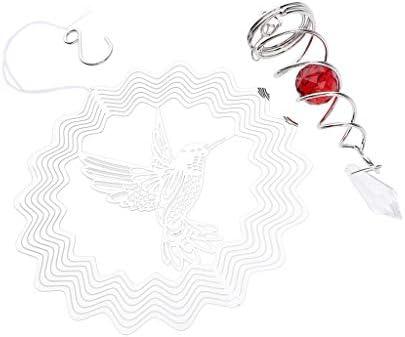 Fenteer ウインドスピナー 注視ボール スパイラルテールサイクロンヤードツイスター 304ステンレス鋼 - 円形