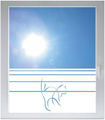 INDIGOS UG Privacy film glass decoration film window film Dynamic stripe satin opaque - d309 cat Rabe - 1000 mm height - 500 mm - Glasses Raben