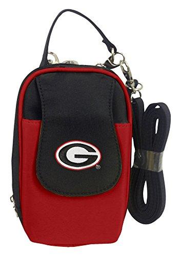 (Charm14 NCAA Georgia Bulldogs Crossbody Cell Phone Purse XL -Fits All Phones )