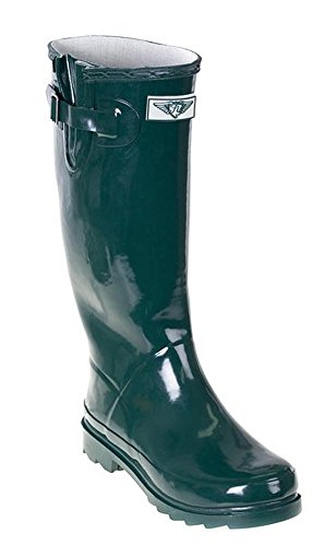 Forever Young - Botas De Lluvia Para Mujer Wellie Forest Green
