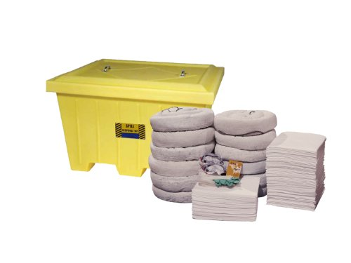Spill Control (Spill Control 26-9295 250 Piece Marine X-Large Oil Only Spill Tote Kit, 140 Gallons Absorb Capacity)