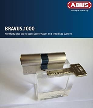 Abus Bravus 1000 Seguridad - DOBLE CILINDRO CON 5 LLAVES, longitud 40/45mm con