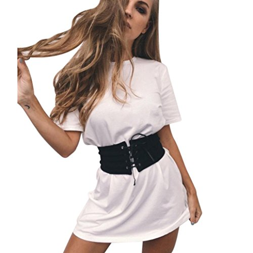CieKen Women Clothes Camouflage Short Garment Sleeve Party Cocktail Short Mini Dress With Belt Fashionable (L, - Street Spring Shopping
