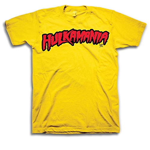 WWE Hulk Hogan Hulkamania Adult T-Shirt (Adult X-Large) Yellow