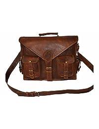 """Real Goatstuff leather messenger bag satchel briefcase 15"""""""