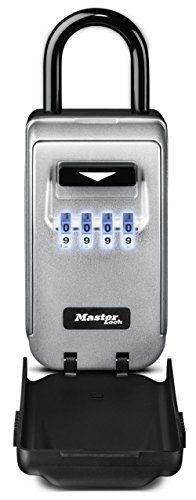 Master Lock Lock Box, Set Your Own Combination Portable Key Safe with Light Up Dials, 2-7/8 in....