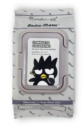 The Crème Shop Korean Cute Gentle and Fresh Advanced Scented Make Up Removal The Crème Shop x Sanrio 20 Pre Wet Towelettes (Badtz-Maru)