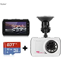 TryAce 1080P Full HD Ultra Thin Driving Recorder Mini Video Camera With 170° Wide Live HD Tachograph