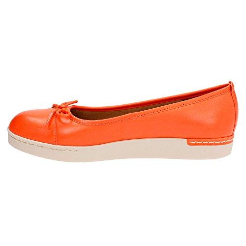 Clarks mujer Cordella alto Orange Leather