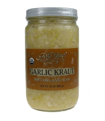 GOLD MINE ORGANIC RAW GARLIC KRAUT 34 OZ