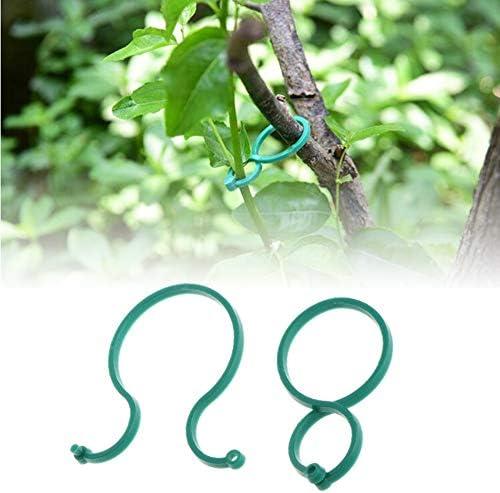 Qiyuezhuangshi001 100pcs温室ファームプラントクリップアウトドアトマトキュウリガーデンツールより糸クランプバインダーフルーツホーム小つるサポート