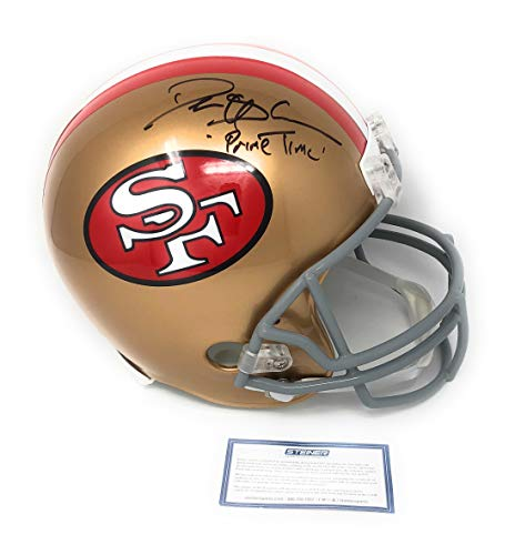 Deion Sanders San Francisco 49ers Signed Autograph Full Size Throwback Helmet PRIME TIME INSCRIBED Steiner Sports Certified