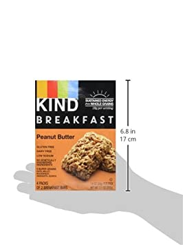 Kind, Breakfast Bars, Peanut Butter (4 Pack): Amazon.es: Salud y cuidado personal
