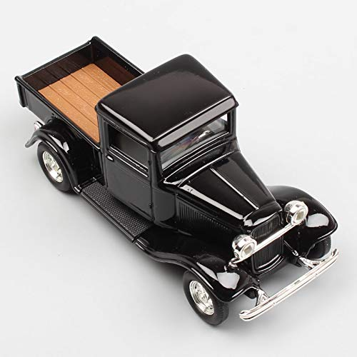 Diecasts & Toy Vehicles - Scale Small Classic Retro 1934 Ford Pick UP Trucks The Model B 40 Metal diecasting Modeling Collection Cars for Child Black - by SINAM - 1 PCs