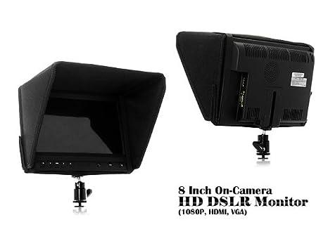 BW® 8 Pulgadas HD En La Cámara Réflex Digital Monitor con 1080p ...