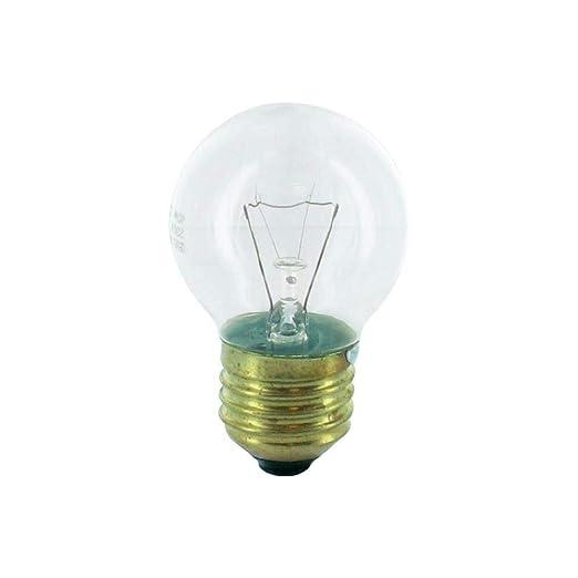 Lámpara esférica clara para hornos de 40W, rosca E27. Para hornos ...