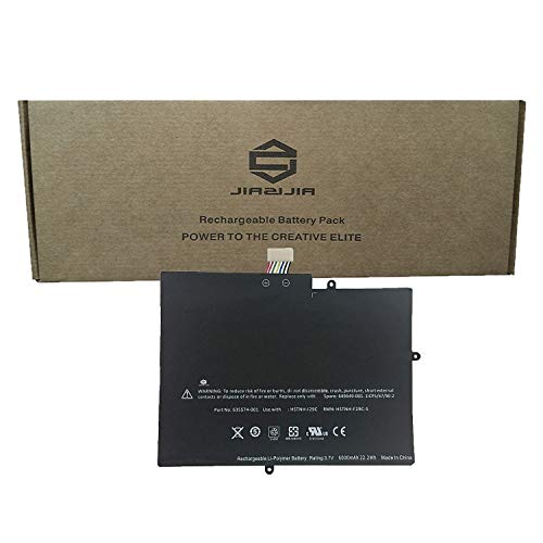 JIAZIJIA HSTNH-I29C Laptop Tablet Battery Compatible with HP TouchPad 10 9.7 inch Tablet Series Notebook 649649-001 635574-001 HSTNH-F29C-S Black 3.7V 22.2Wh 6000mAh ()