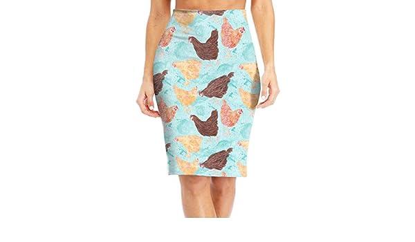 Memphis Chicken Coop Womens Fashion Printed Pencil Skirt