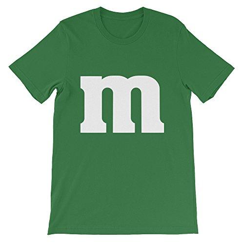 M Letter Halloween Last-minute Genius Costume Tee (Green M And M Halloween Costume)