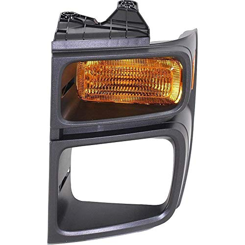 (New Front Left Driver Side Parking Light Lens For 2008-2016 Ford Econoline Van, Includes Bezel, With Sealed Beam Head Lights FO2524103 8C2Z13201B)