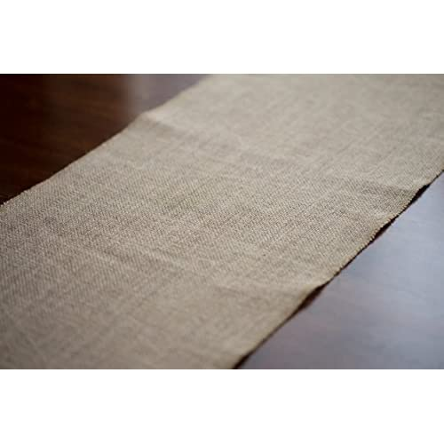 Burlap Table Runner 12'' x 108'' by EleganceWay Natural - No-Fray, Rustic Dining Table for Decorating Weddings, Baby Showers, Receptions, Candy Buffets. Jute Fabric