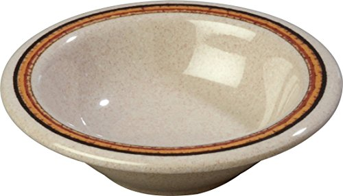 - Carlisle 43043908 Durus Rimmed Melamine Fruit Bowl, 4.75