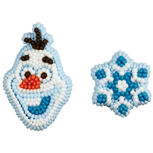 Wilton 710-4500 12 Count Disney Frozen Icing Decorations - Snowflake Icing Decorations