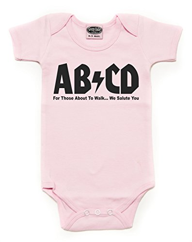 (Crazy Baby Clothing Unisex Baby ABCD Rock N Roll Short Sleeve Onesie 18M,)