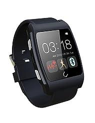 Lolipp Sleep Heart Rate Monitor Waterproof Bluetooth U Watch for Android Smart phone Black