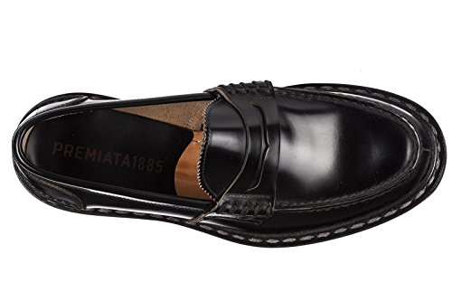 PREMIATA Mocassini Uomo in Pelle Originale Nero