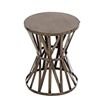 Deco 79 Metal Accent Table, 14 by 18-Inch