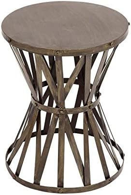 Deco 79 27523 Metal Accent Table 14 W, 18 H