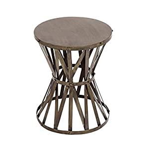 "Deco 79 27523 Metal Accent Table 14""W, 18""H"