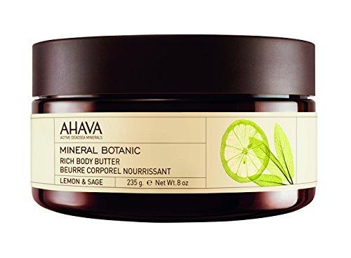 AHAVA Mineral Botanic Body Butter Lemon&Sage, 8 Oz