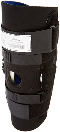 Sammons Preston Deluxe Hinged Knee Support, Size Medium, Knee Brace with Extension Inhibiting Hinge, Knee Support, Knee Immobilizer for Recovering from Knee, Patella, and ACL Injury and Surgery