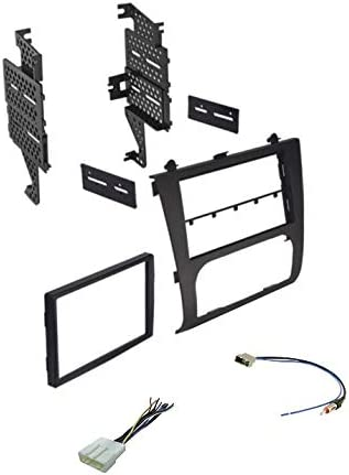 Wire Harness Not Compatible w//Manual Climate and Antenna Adapter for Installing an Aftermarket Double Din Radio for 2007-2012 Nissan Altima w//Digital AC Premium Car Stereo Install Dash Kit