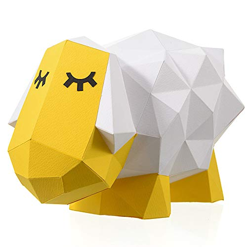 Paperraz-3D-Sheep-Sculpture-Animal-Building-Puzzle-Low-Poly-PaperCraft-Kit-for-Adults-Teens--NO-Scissors-Needed