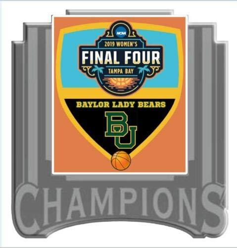 Final Baylor Lady Bears Basketball - Basketball 2019 Women's Final Four Champions PIN Lady Bears PIN NCAA Championship Lapel PIN Baylor PRE-Order Item - Shipping Begins April 16TH
