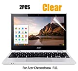 (2PCS Pack) Acer Chromebook R 11 Screen Protector HD Clear Anti-Scratch for Acer Chromebook R 11 Convertible 11.6 inch CB5-132T / 2017 Newest Acer Premium R11 Convertible 11.6 inch, 2-Piceces/Pack