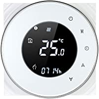 Decdeal Termostato Wi-Fi per Caldaia a Gas,Termostato Digitale,Programmabile Display LCD Touchscreen con...