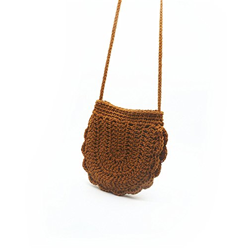 Seaside Meaeo Span Slanted Playa Paja Paquete Bolso Resort Brown Brown Bolsa De qBwB6Frt