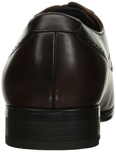 Steve Madden Mens Rivars Oxford Brunt Läder