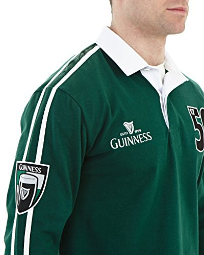 c07f889bedf Guinness Traditional Arthur Signature Green Rugby Jersey - Import It All