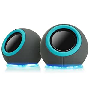 GOgroove SonaVERSE LYT Compact USB Laptop Speakers with Mood Changing LED Lights - Perfect for School Kids , College Students , Dorm Rooms , Classrooms , Offices & more!