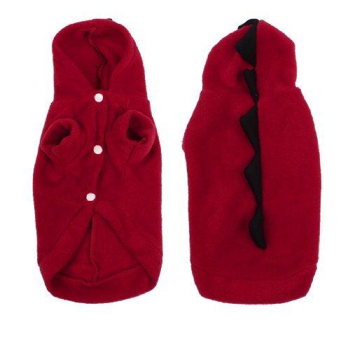 eDealMax Wear invierno perro Corto Mangas del perrito Chihuahua Con Capucha ropa de la ropa roja S