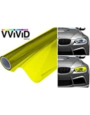 VViViD XPO Bright Yellow Headlight - Tail Light Window Wet Tint 2-Pack (12in X 48in)
