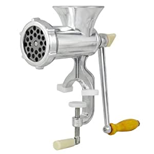 New Rand Manual Meat Grinder No. 10 Sausage Stuffer with 3 Stuffing Tubes