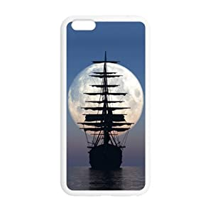 super shining day Discount Nautical Sailing Boat Ocean TPU Material Snap on Case Cover for iPhone 6 Plus 5.5