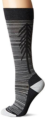 Icebreaker Merino Women's Lifestyle Light Over The Calf Socks, Jet Heather/Snow, Small by Icebreaker Merino (Image #1)