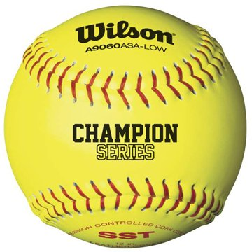 Wilson A9306 ASA Series Softball (12-Pack), 11-Inch, Optic (Wilson Fastpitch Softballs)